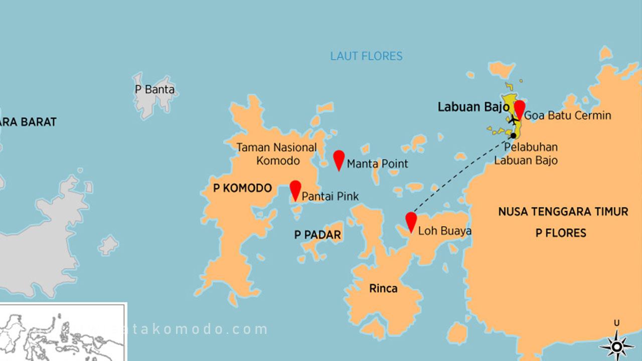 Peta Pulau Komodo Nusa Tenggara