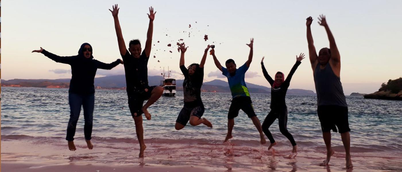 Paket wisata Komodo - Pink bdz hkomoco