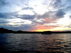 Sunset di Pulau Kalong